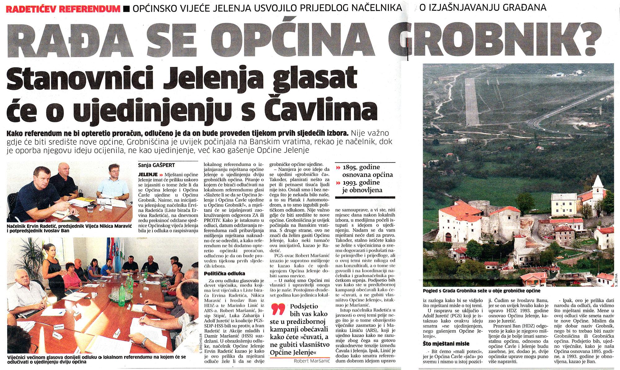 Ervin Radetić bi spojio općine Jelenje i Čavle