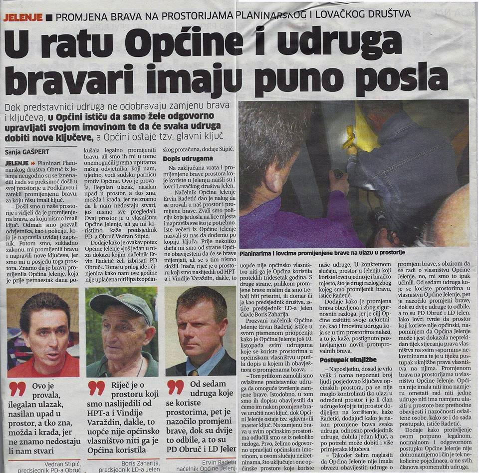 Općina Jelenje provalila u prostor PD Obruč