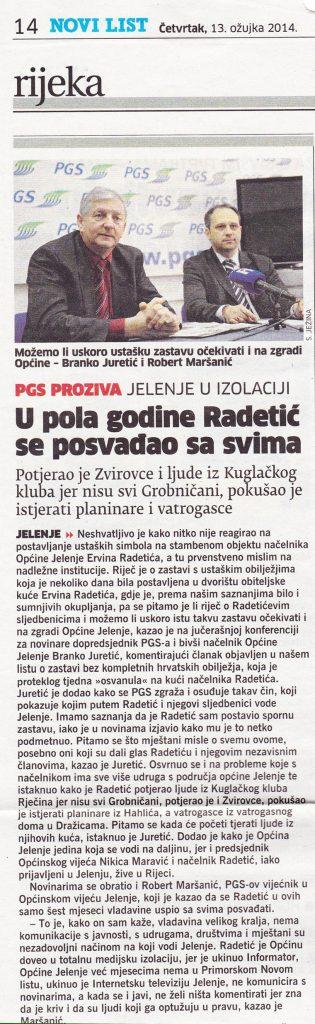 U pola godine mandata Radetić se posvađao sa svima