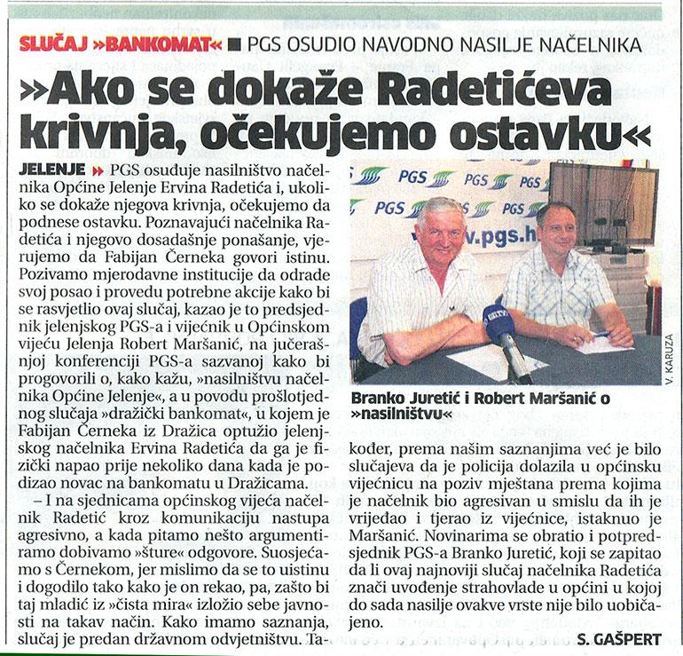 PGS Jelenje osudio Radetićevo nasilje nad sumještanom