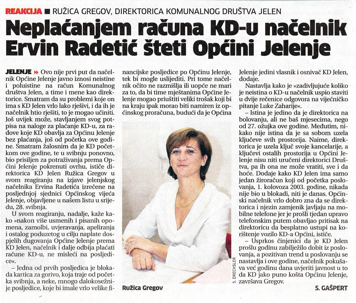 Ervin Radetić želi dovesti KD Jelen u stečaj