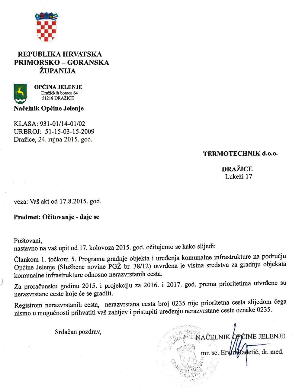 Općina Jelenje koči najvećeg poduzetnika na svom području
