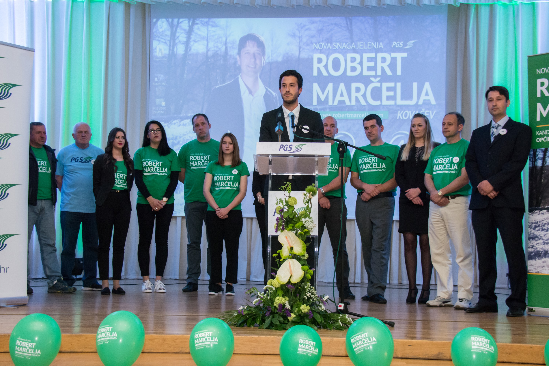 Ispunjen Dom kulture u Dražicama - mještani dali podršku Robertu Marčelji
