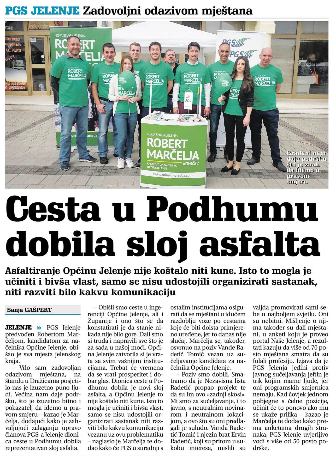 Novi list: PGS Jelenje - zadovoljni odazivom mještana