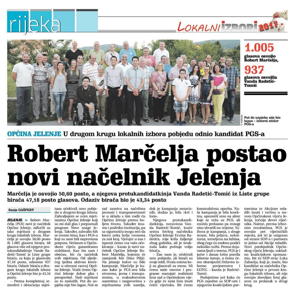Robert Marčelja novi je načelnik Općine Jelenje