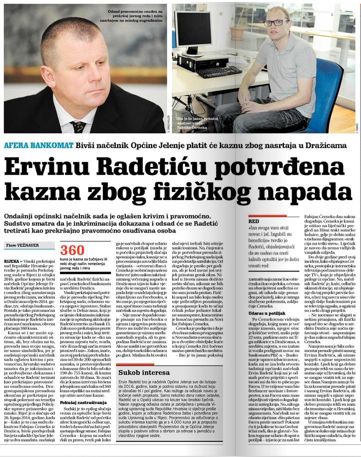 U LAŽI SU KRATKE NOGE: Ervinu Radetiću potvrđena kazna zbog fizičkog napada