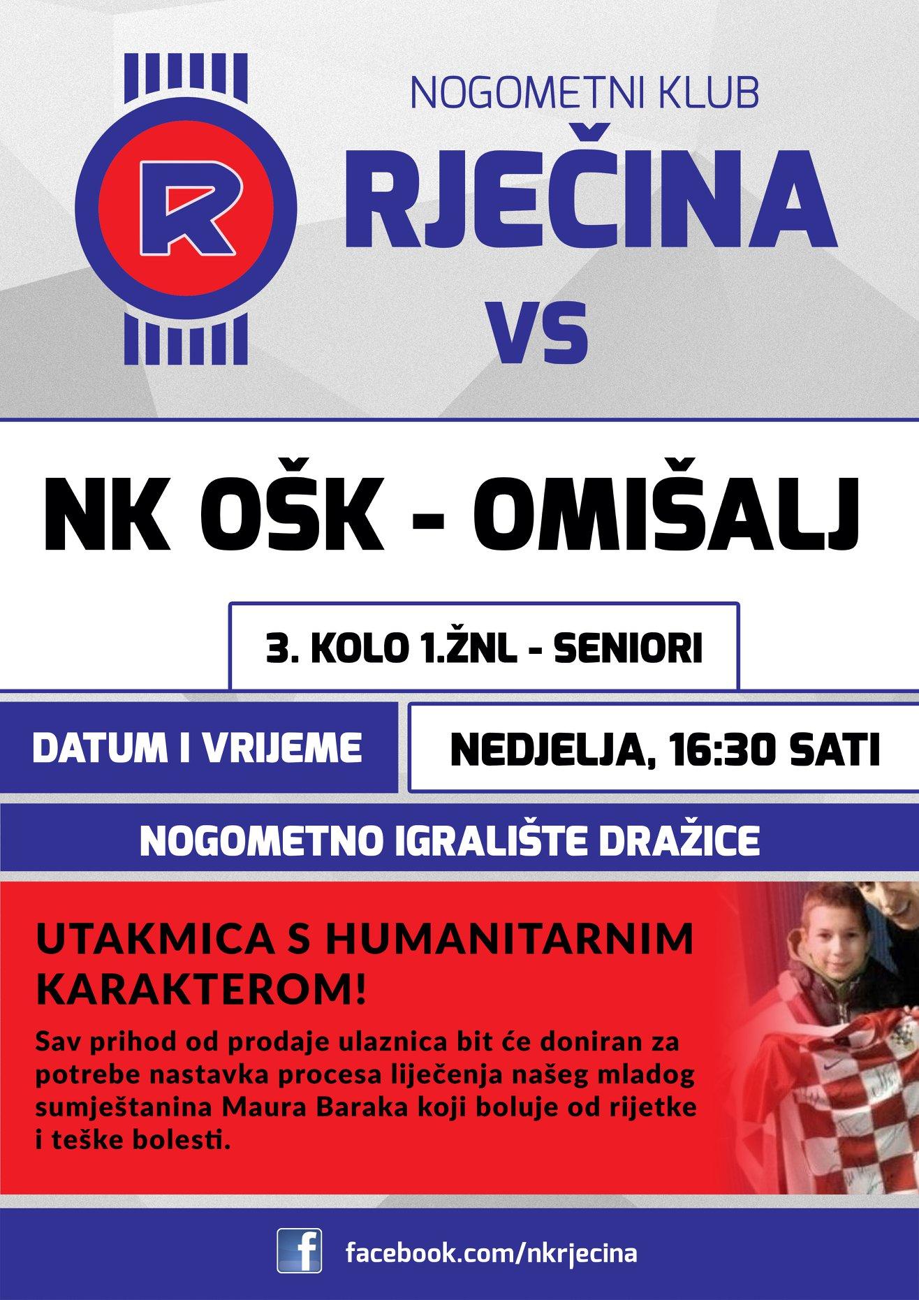 NK Rječina: Nedjeljni derbi imat će humanitarni karakter