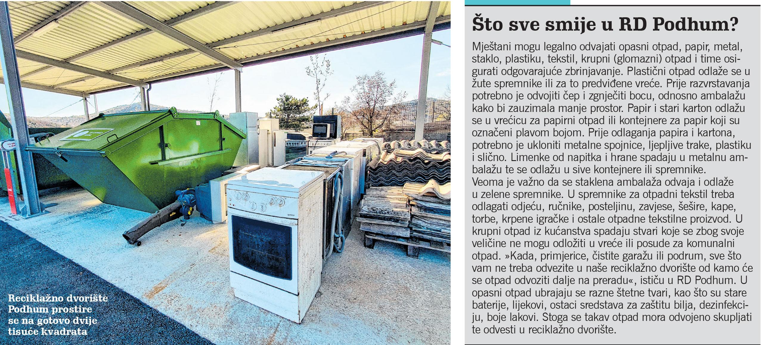 Mještani Jelenja sve više koriste reciklažno dvorište u Podhumu